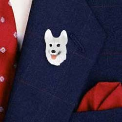 White German Shepherd Pin