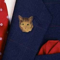 Maine Coon Cat Pin