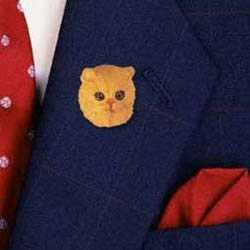 Red Persian Cat Pin