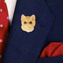 Red Tabby Cat Pin