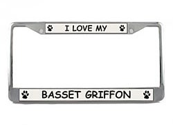 Basset Griffon Vendeen License Plate Frame