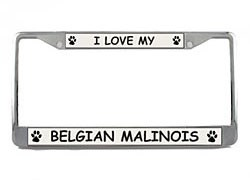 Belgian Malinois License Plate Frame