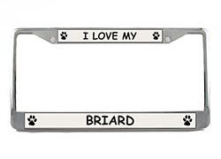 Briard License Plate Frame