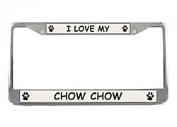 Chow Chow License Plate Frame