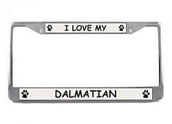 Dalmatian License Plate Frame