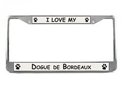Dogue de Bordeaux License Plate Frame
