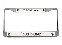 Foxhound License Plate Frame