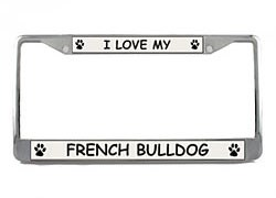 French Bulldog License Plate Frame