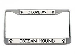 Ibizan Hound License Plate Frame