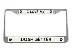 Irish Setter License Plate Frame