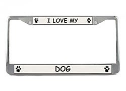 Dog License Plate Frame