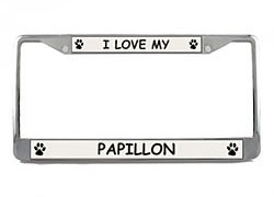 Papillon License Plate Frame
