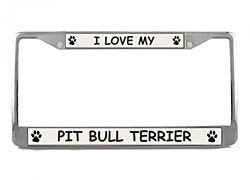Pit Bull Terrier License Plate Frame