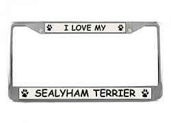 Sealyham Terrier License Plate Frame