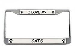 Cats License Plate Frame