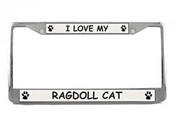 Ragdoll Cat License Plate Frame