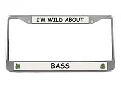 Bass License Plate Frame