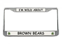 Brown Bear License Plate Frame