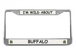 Buffalo License Plate Frame