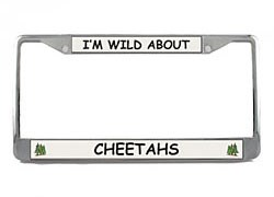 Cheetah License Plate Frame