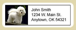 Bichon Frise Address Labels