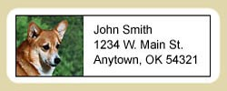 Corgi Address Labels