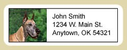 Great Dane Address Labels
