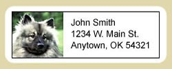Keeshond Address Labels