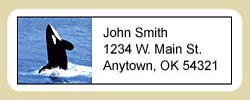 Whale Address Labels