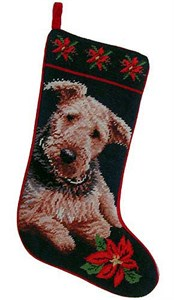 Airedale Terrier Christmas Stocking