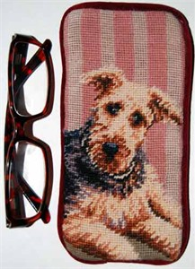 Airedale Terrier Eyeglass Case