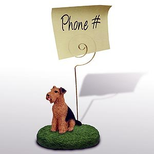 Airedale Terrier Note Holder
