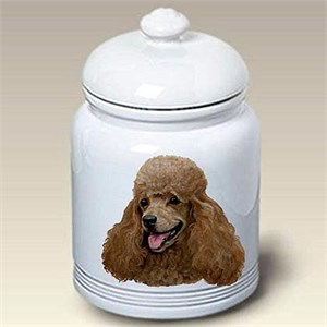 Apricot Poodle Treat Jar