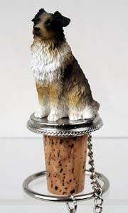 Australian Shepherd Bottle Stopper (Brown)