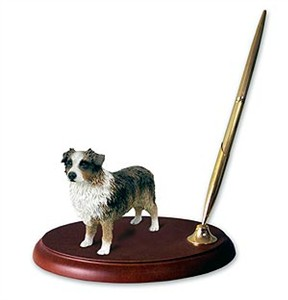 Australian Shepherd Pen Holder (Brown)