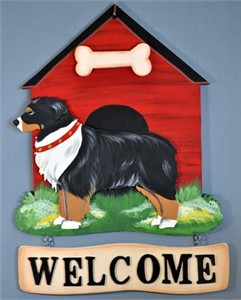 Australian Shepherd Welcome Sign