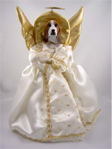 Basset Hound Angel Christmas Tree Topper