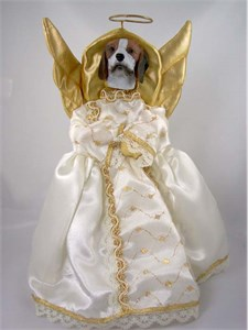 Beagle Angel Christmas Tree Topper