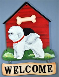 Bichon Frise Welcome Sign