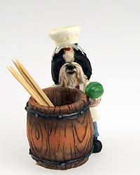 Black & White Shih Tzu Toothpick Holder
