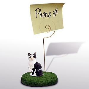 Black and White Cat Note Holder