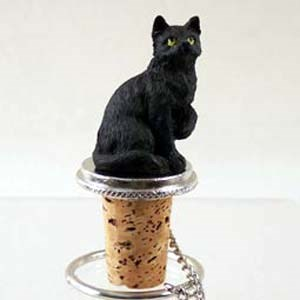 Black Cat Bottle Stopper