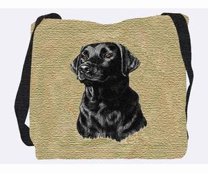Black Lab Puppy Tote Bag