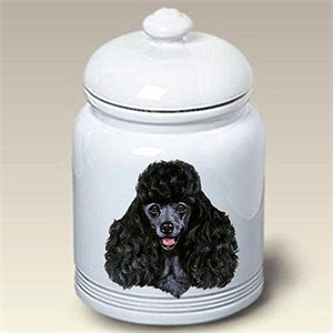 Black Poodle Treat Jar