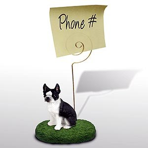 Boston Terrier Note Holder