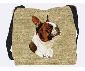 Boston Terrier Tote Bag (Brown)