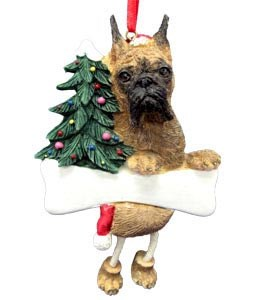 Boxer Ornament (Brindle Cropped)