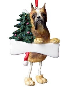 Boxer Ornament (Fawn Cropped)