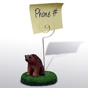 Brown Bear Note Holder