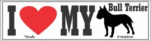 Bull Terrier Bumper Sticker I Love My
